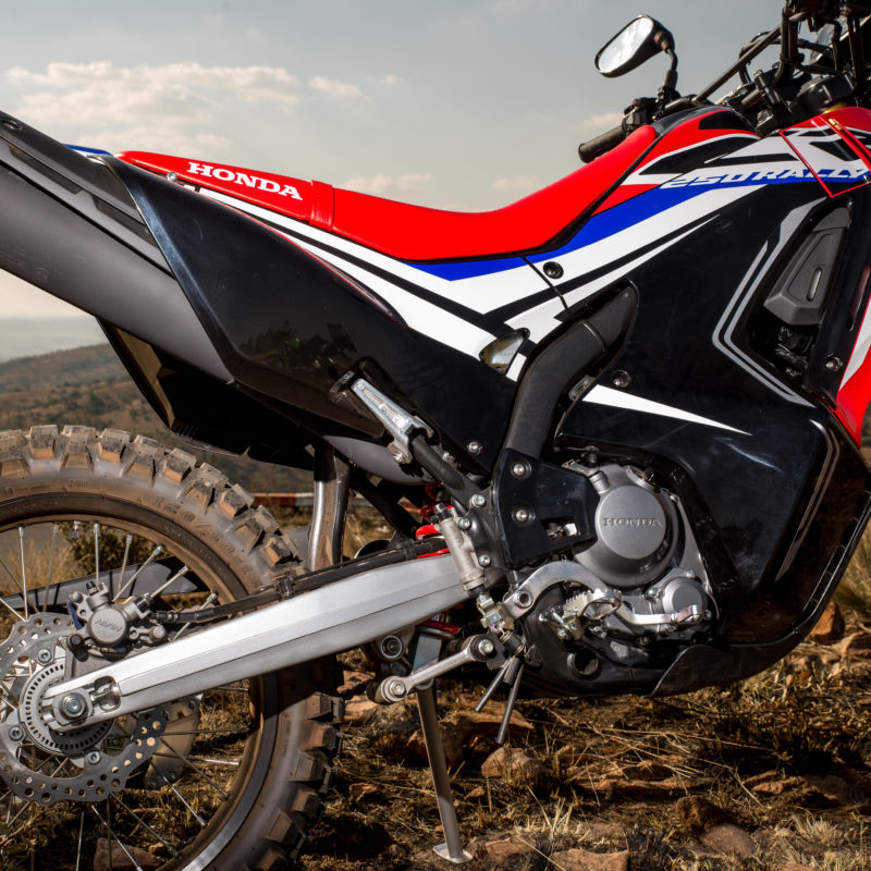 CRF250 Rally vs Versys-X 300 red motor