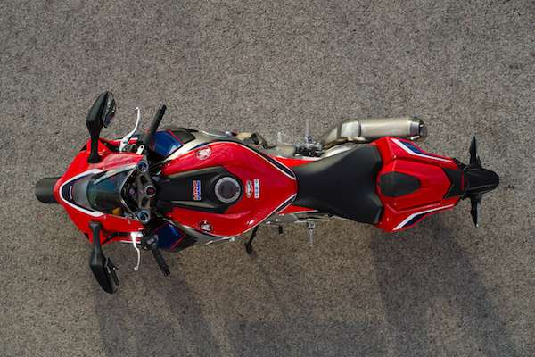 Honda Fireblade narrower