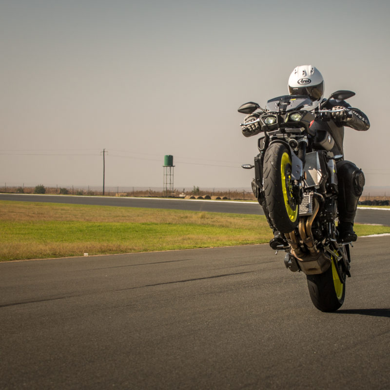 Yamaha TM-10 wheelie