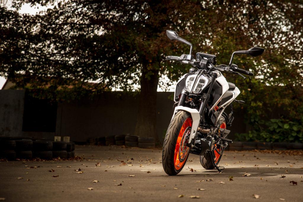 KTM 390 Duke track
