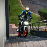 KTM 390 Duke stairs