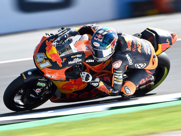Brad Binder looking good at Silverstone on Friday