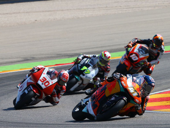 Binder races from 20th to fifth at Aragon