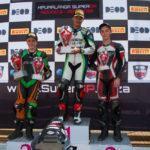 SuperJunior race 2 podium