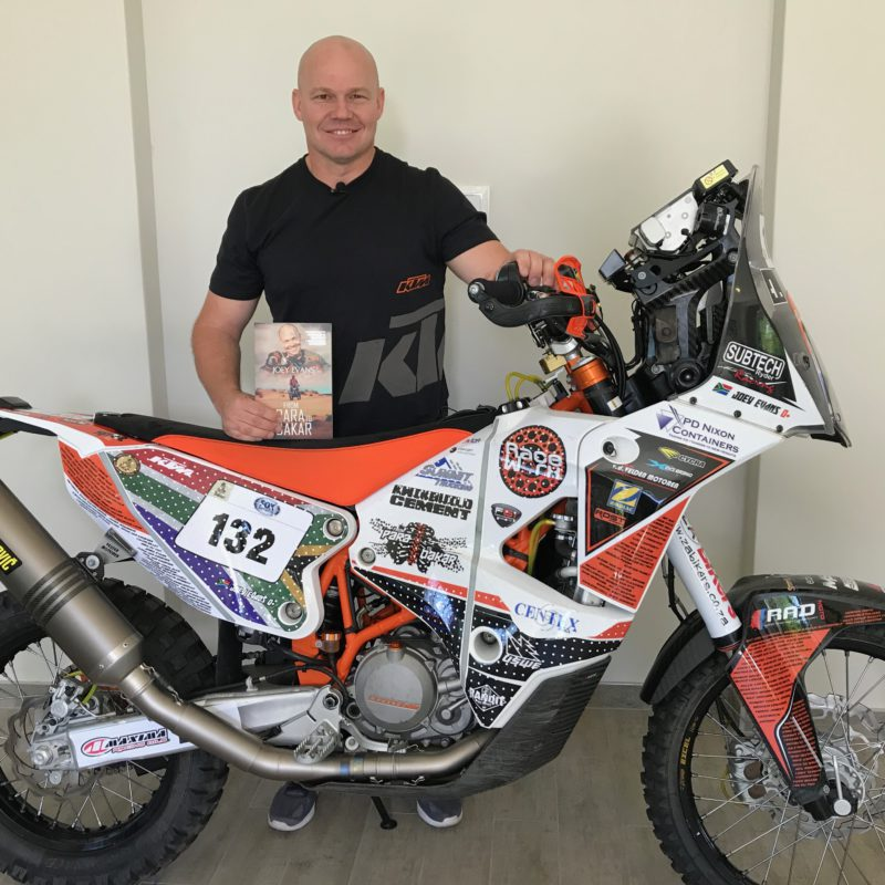 Joey Evan From Para to Dakar Book bike