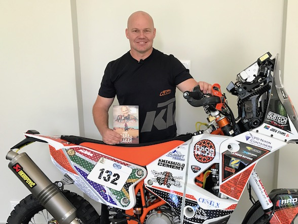 Dakar hero Joey Evans releases 'From Para To Dakar' book