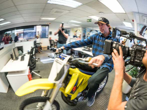 Nitro Circus Live news and video: Travis Pastrana rips up the 94.7 Highveld Stereo studios