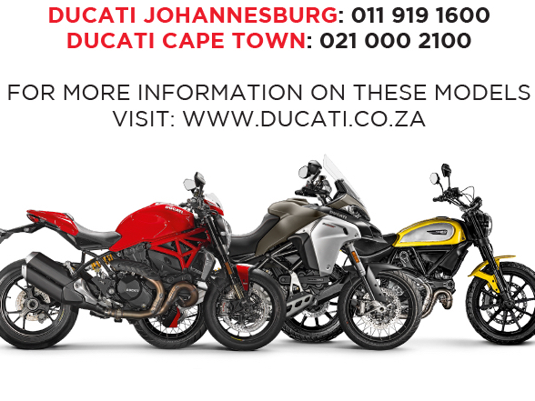 Good offers on demo units available from Ducati South Africa