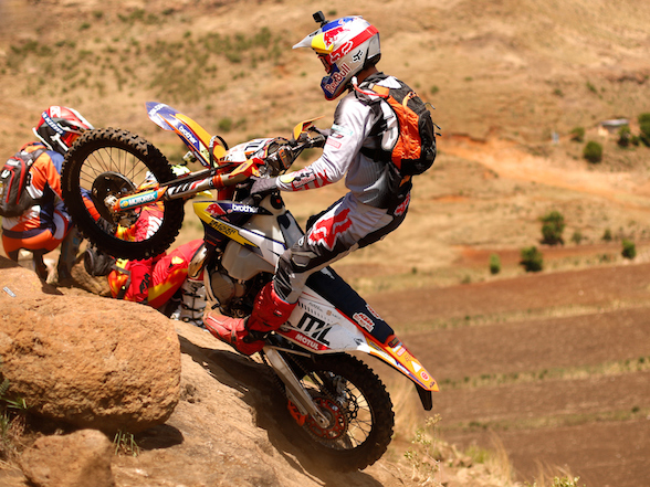 KTM TPI fuel-injected two-stroke enduros in Lesotho