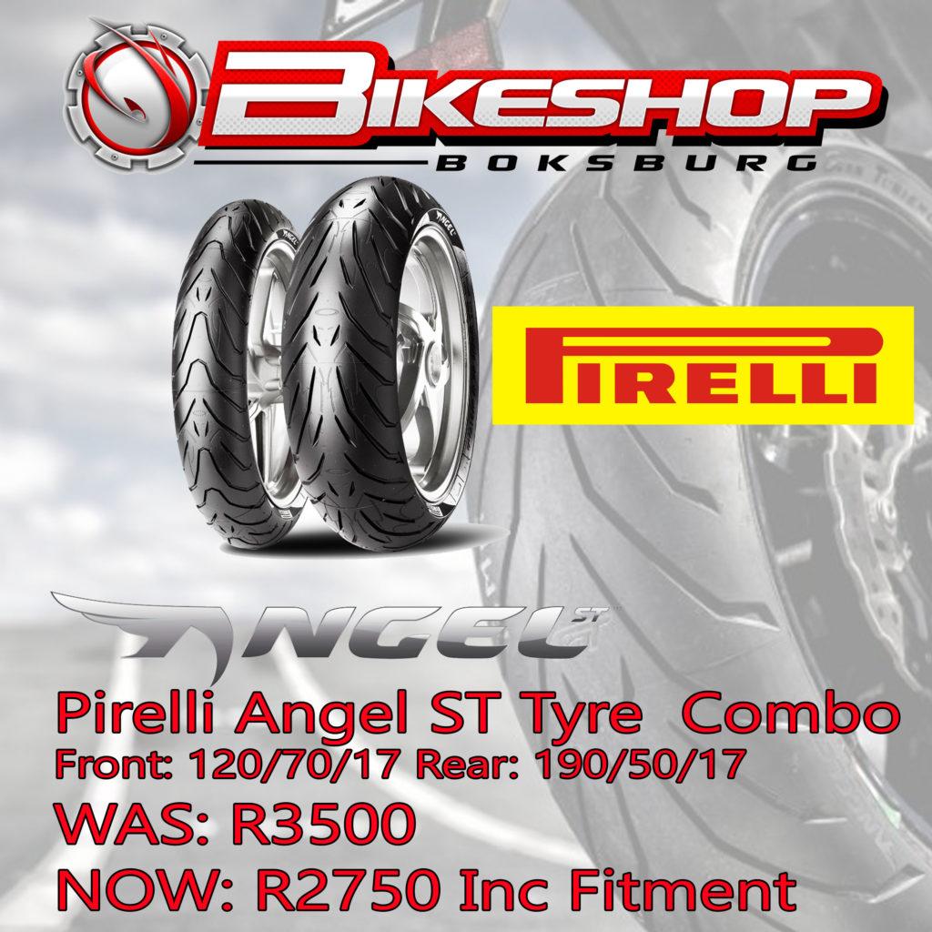 Bikeshop Boksburg Pirelli Angel ST tyre special
