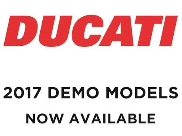 New demo bikes for sale at Ducati
