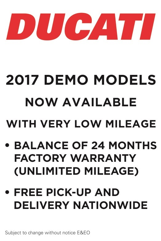 Ducati demo deal more