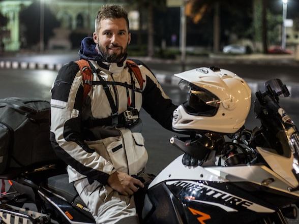 SA man sets new Cairo to Cape Town motorcycle record