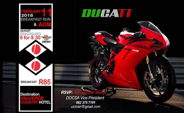 Ducati Breakfast Run Valverde