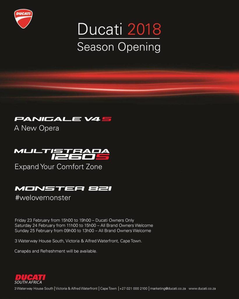 Ducati Cape Town Season Opening 2018