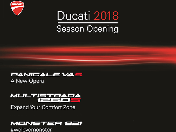 Ducati SA to unveil Panigale V4 – 17 & 18 February