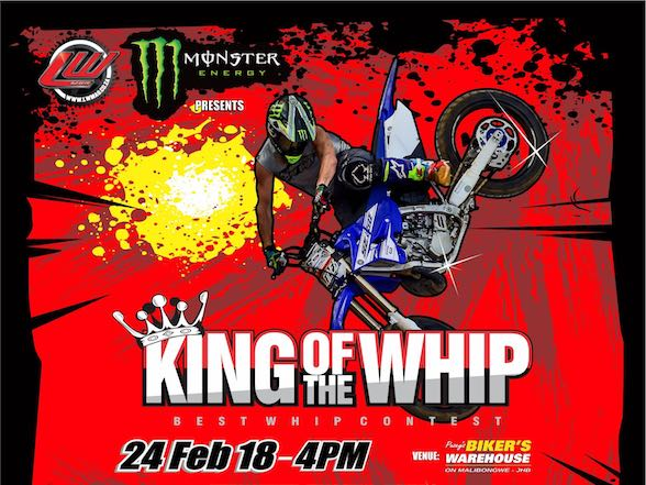 King of the Whip 2018 – 24 February, Bikers Warehouse