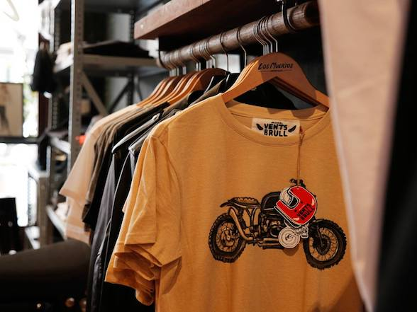 Vents Brull designer motorcycle T-shirts