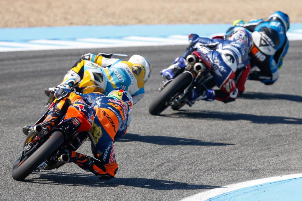 Brad Binder last to first two years jerez Moto3