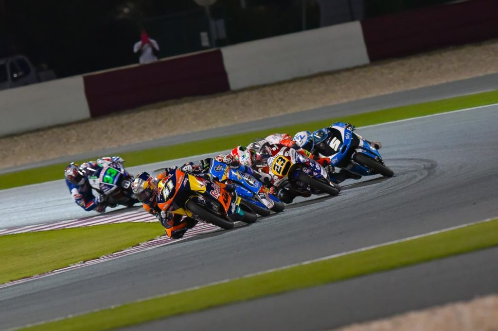 Brad Binder last to first two years jerez Moto3 podium lonely Qatar