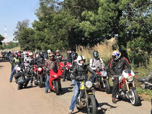 Ducati Breakfast Run to Bronkhorstspruit with the Scrambler Cafe Racer & Desert Sled
