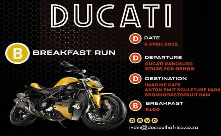 DOCSA breakfast run to Bronkhorstspruit dam