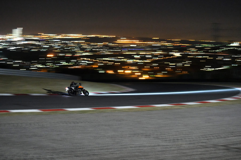 KTM 790 Duke night Kyalami