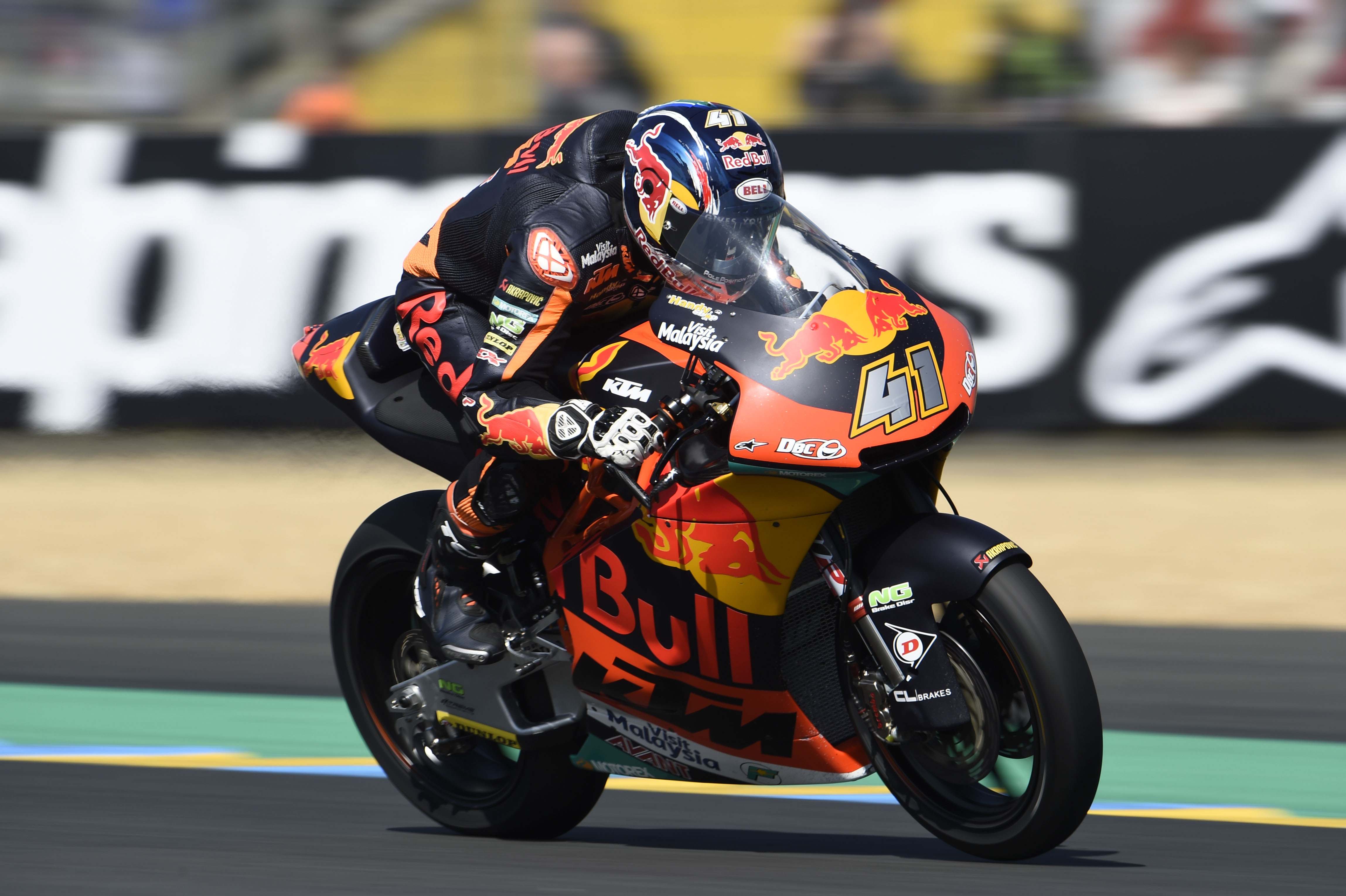 brad binder at le mans my biggest problem is stopping the bike