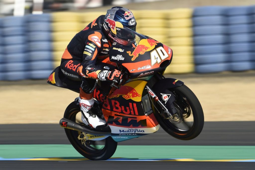 Darryn Binder Le Mans Friday wheelie