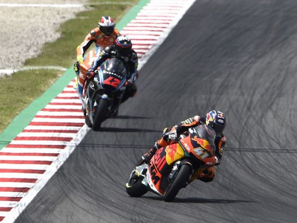 "Brad Binder Catalunya race: ""I had to save many crashes"""