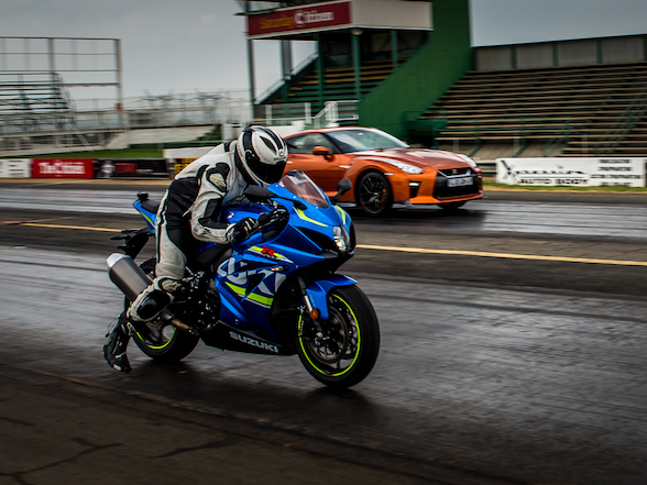 Harry Fisher performance blog feature Suzuki GSXR1000 vs Nissan GTR