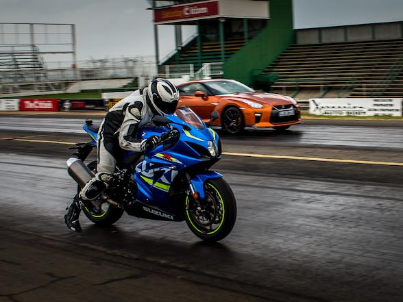 Harry Fisher performance blog feature Suzuki GSXR1000 vs Nissan GTR
