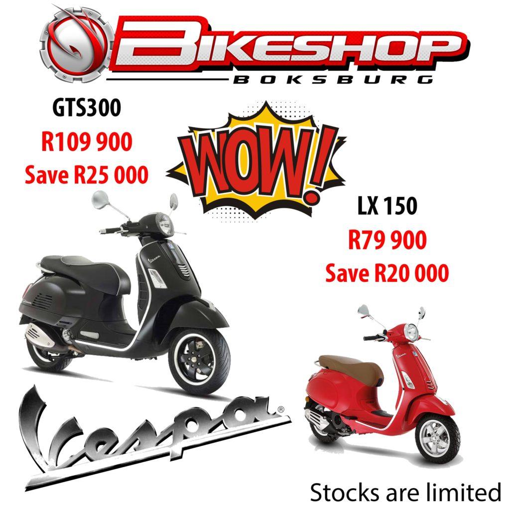 Bikeshop Boksburg specials Suzuki East VESPA