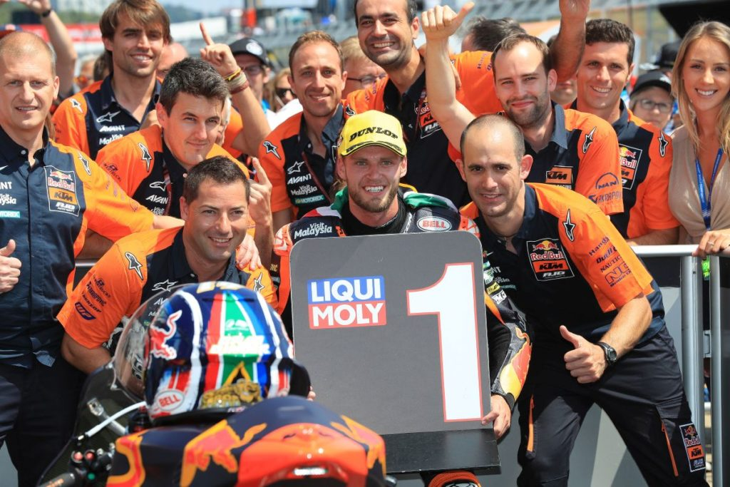Brad Binder German Win Moto2 KTM team