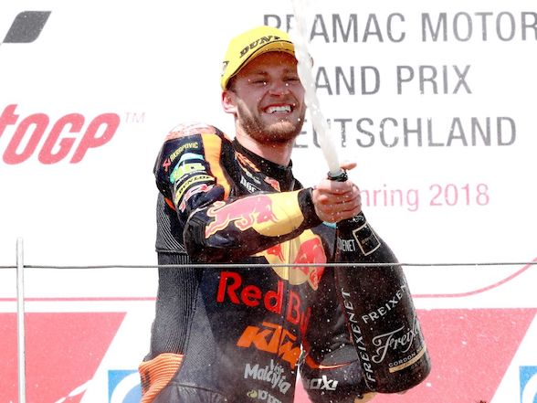 "Brad Binder on German win: ""It doesn't seem real to me."""