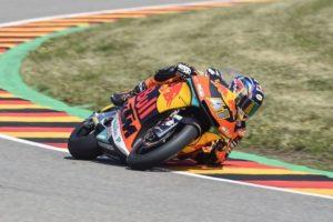Brad Binder takes victory in the German Moto2 race