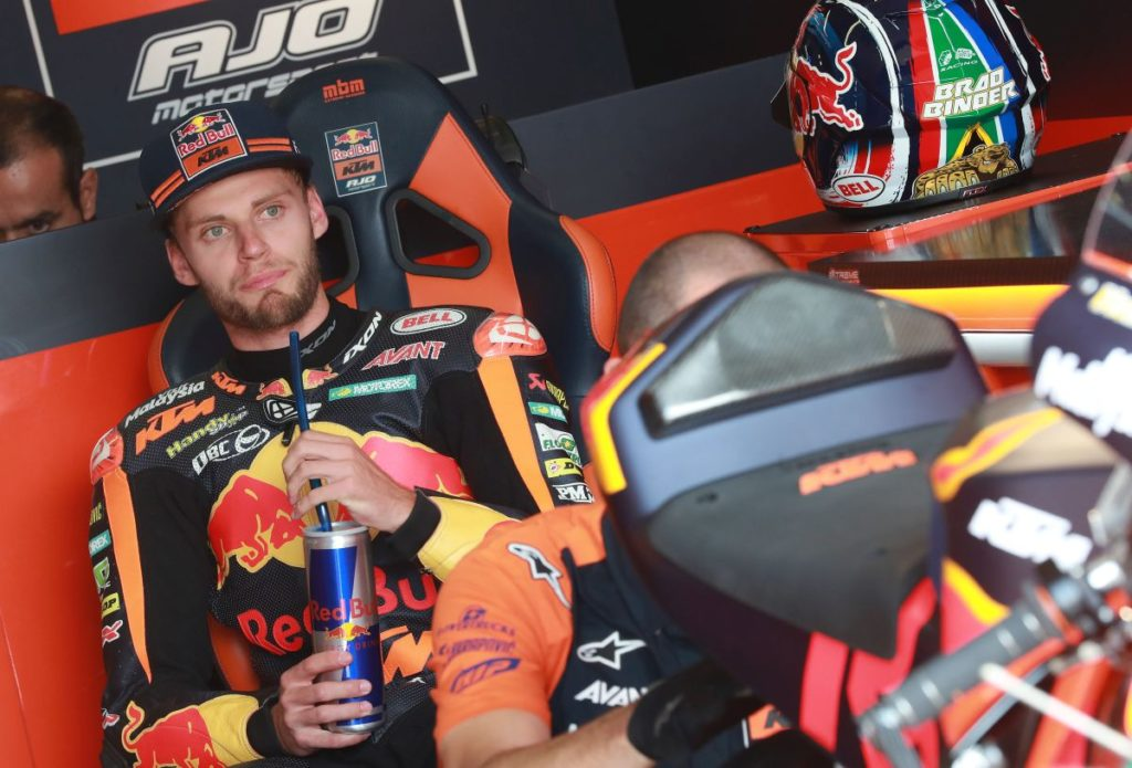Brad Binder resigns Moto2 2019 KTM Ajo Red Bull chair