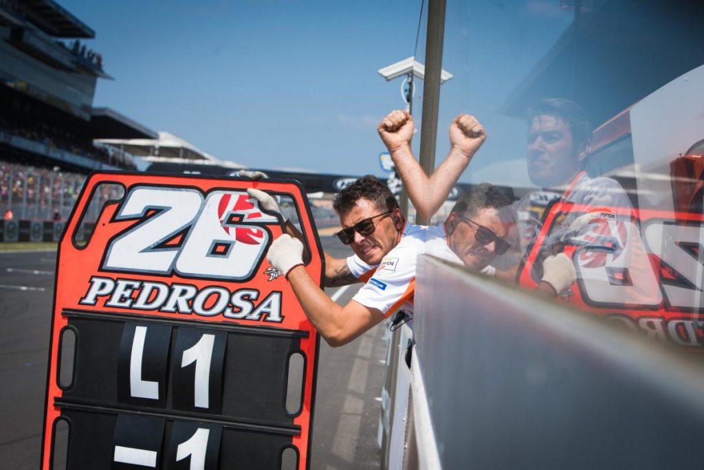 Dani Pedrosa Retiring MotoGP pit board
