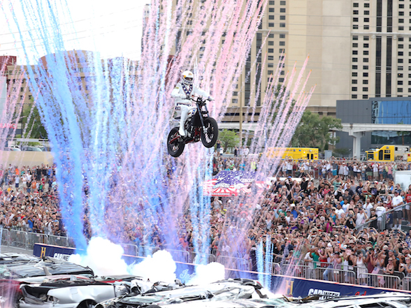 Videos & Gallery: Travis Pastrana lands three Evel Knievel jumps