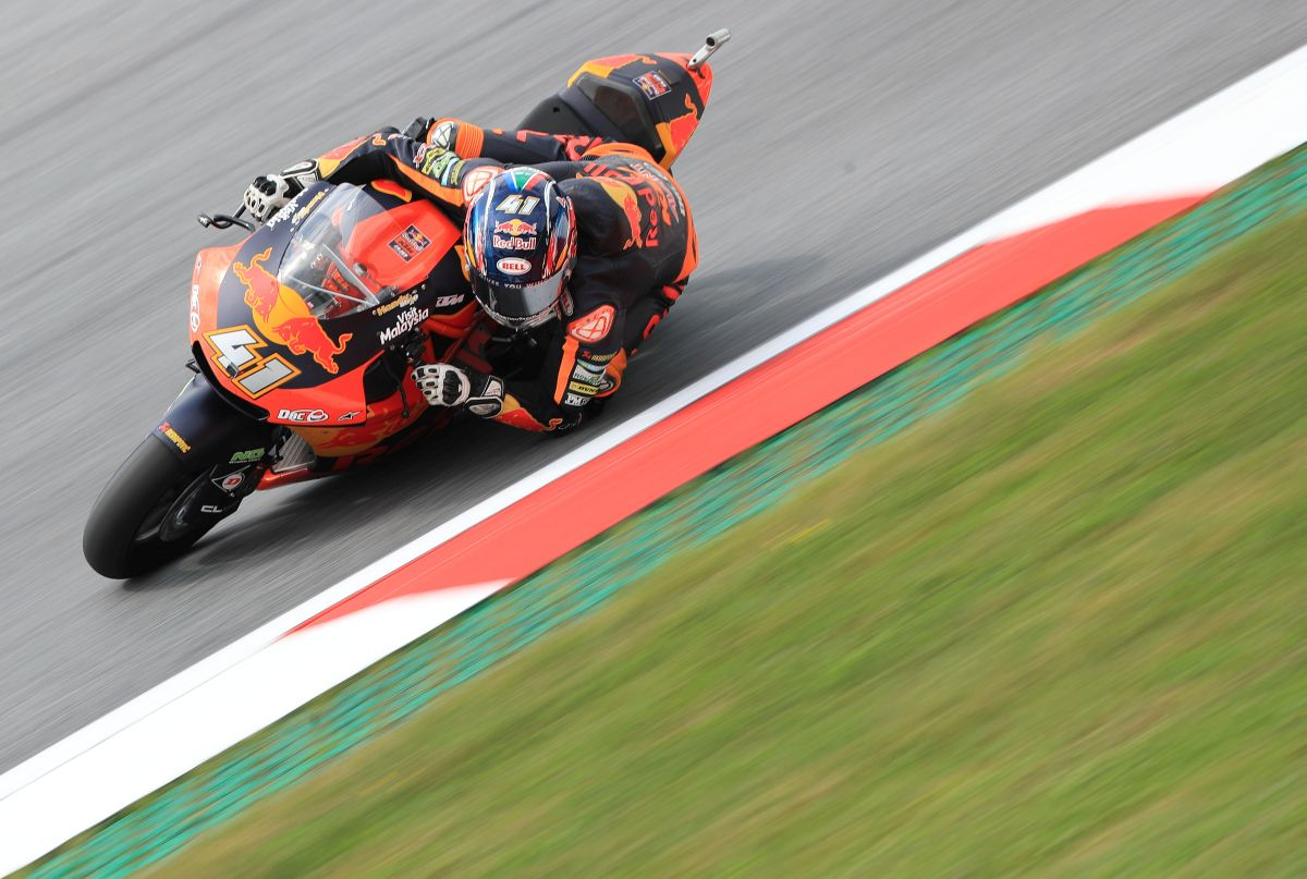 Brad Binder Austria Red Bull Ring Moto2 KTM elbow