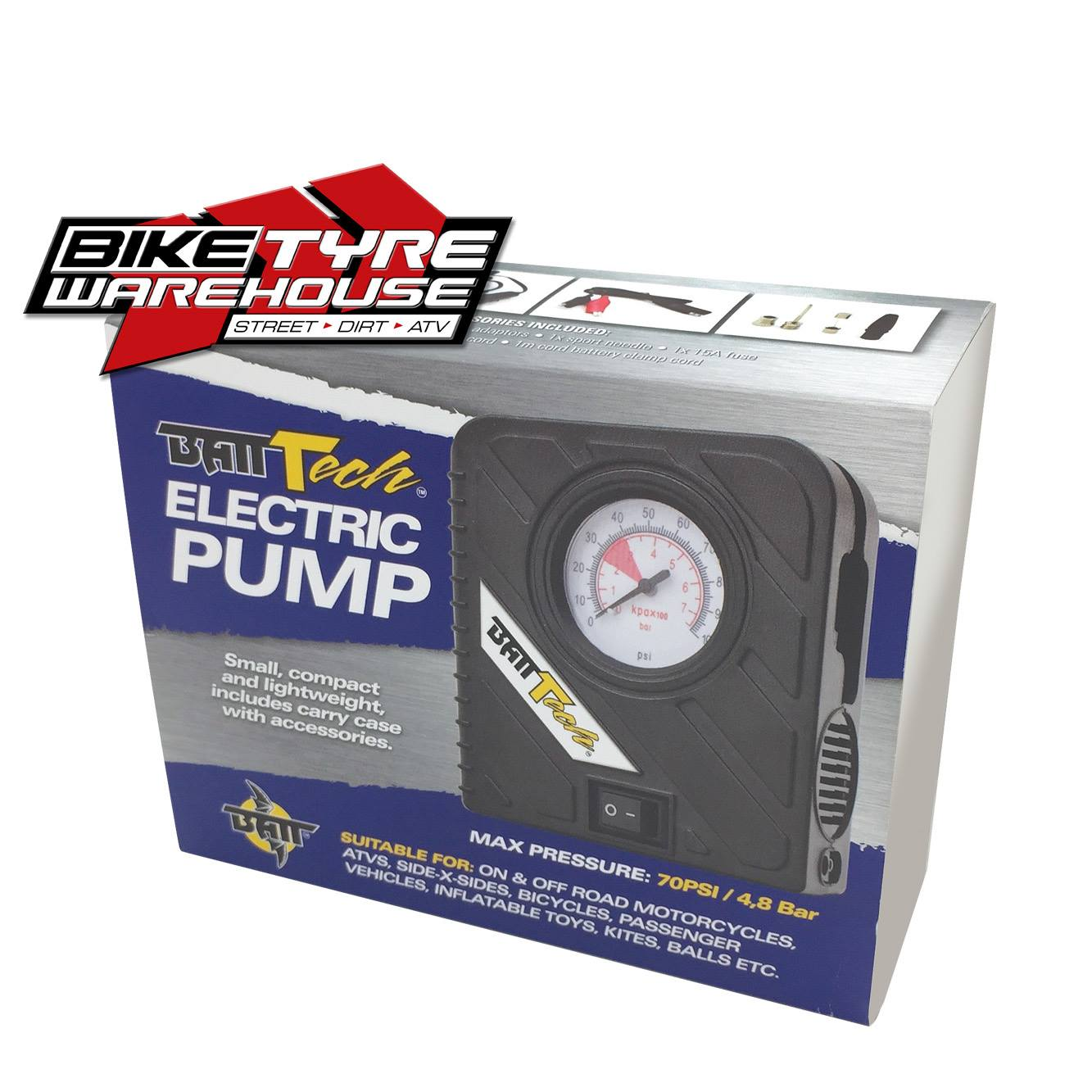 BATT TECH ELECTRIC PUMP Bike Tyre Warehouse