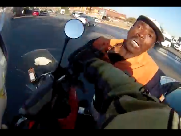 Video: BMW GS rider stops smash and grab in Alexandra