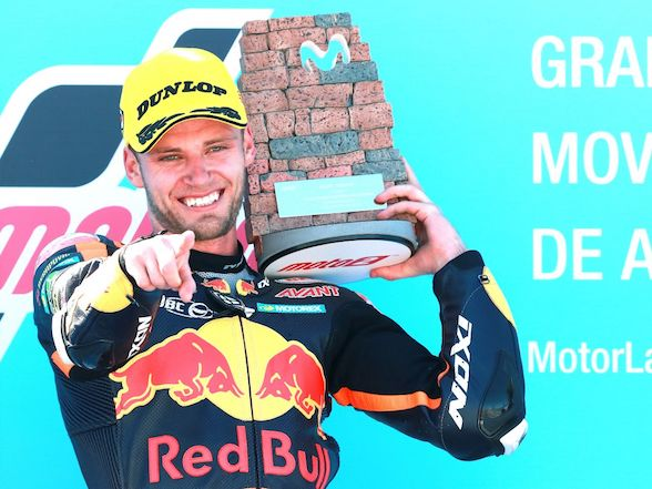 "Brad Binder on Aragon race: ""I am very grateful for the victory"""