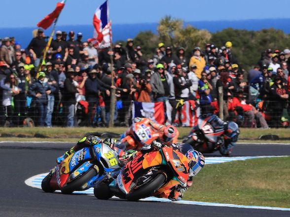 "Brad Binder on Aus win: ""It was a crazy race; I thought I was in Moto3!"""