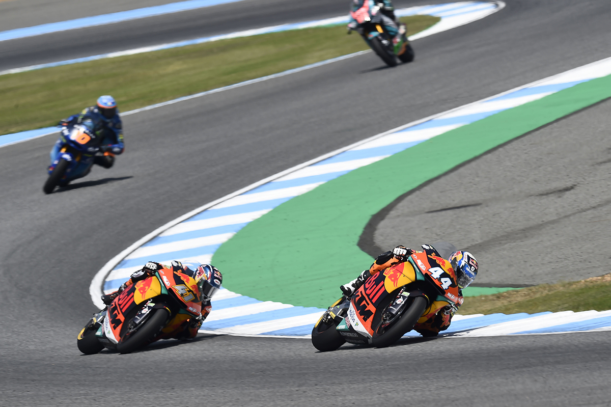 Brad Binder KTM Thailand Moto2 group