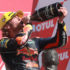 Darryn Binder Podium Japanese Grand Prix Moto3 champagne Feature