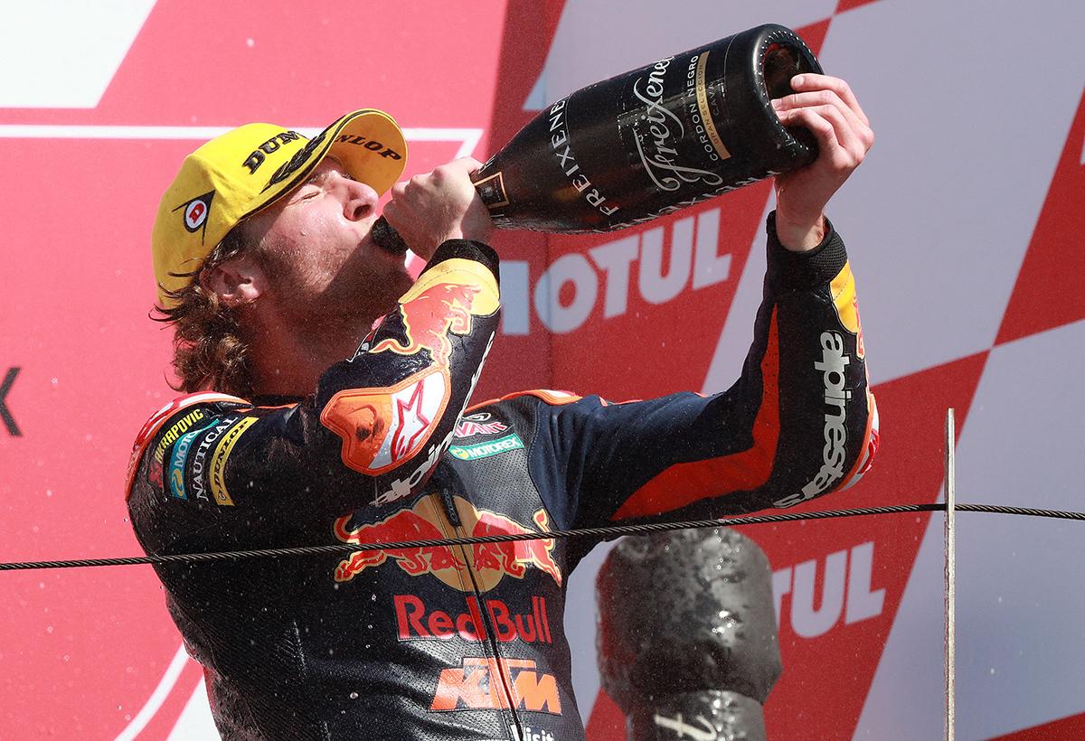 Darryn Binder Podium Japanese Grand Prix Moto3 champagne