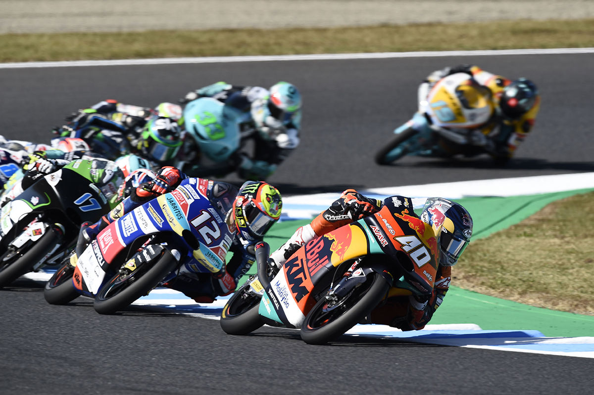Darryn Binder Podium Japanese Grand Prix Moto3 lead