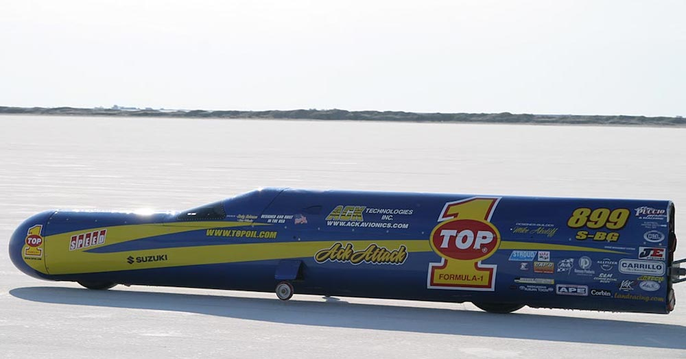 Motorcycle land speed record topoil ack attack