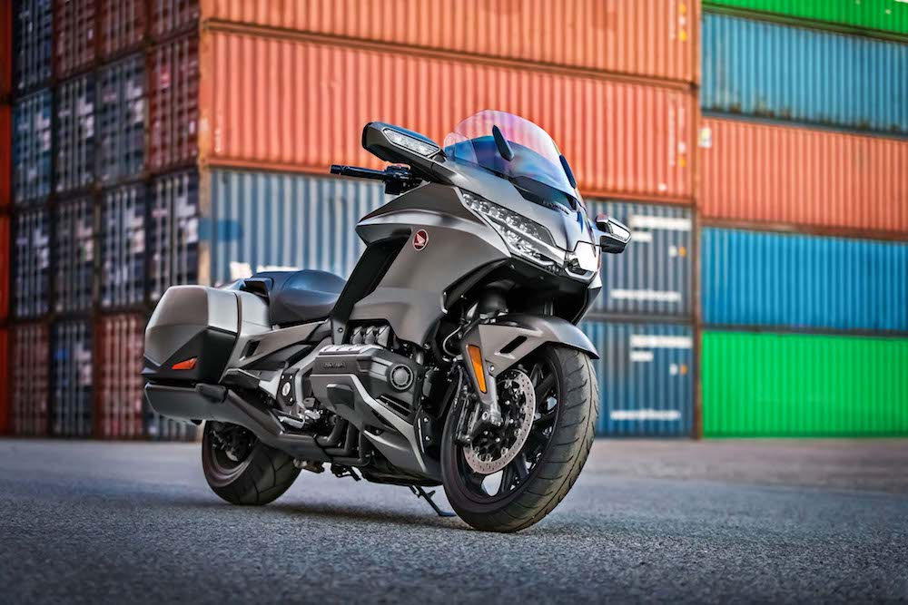 Pirelli Bike of the year 2018 finalist Honda Goldwing 2018 containers